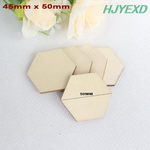 Pins, Brooches 30MM 35mm  50mm 60mm 80mm Cutout Unfinished Wood Hexagon (No Pin) Rustic Favor Party Suppliers -CT1121