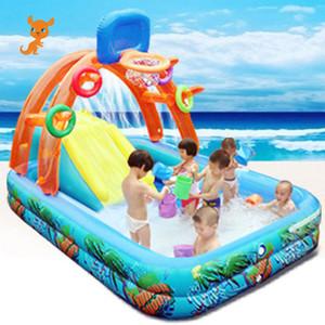 Novo Slide Water For Children Fun Lawn Água Slides Insufláveis Piscinas para Slide Crianças Crianças do verão ajustados quintal brinquedos ao ar livre 201014