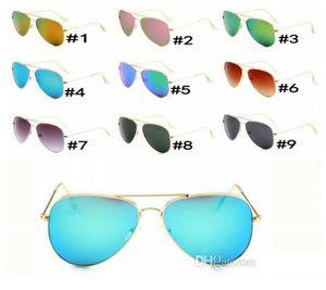 summer women FASHION metal Dazzle colour Sunglasses Driving glass cycling glasses men Bicycle beachGlass driving Sun glasses 9COLORS