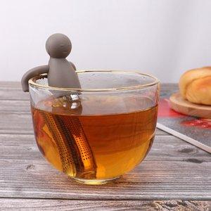 Lindo filtro de té de silicona Encantador Humanoide 304 Straiador de té de acero inoxidable Creativo Práctico Té Infusor Gadgets VTKY2240