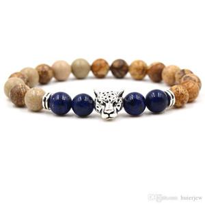 Лазурит природного камня Браслет шарма подарка ювелирных изделий для женщин Мужские браслеты