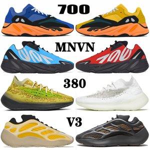 ayakkabı yeezy boost MNVN 700 v3 380 kanye west yezzy yeezys Azareth Runner Azael Alvah Alien Mist Carbon Blue Vanta yeni koşu ayakkabıları erkek kadın spor eğitmenler