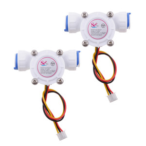 2Pieces 3 8\'\' Water Flow Sensor Flowmeter Hall Flow Sensor Water Control 0.3-10L min