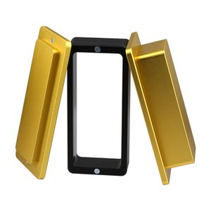 """Оптовая цена 2.4 """"x4.8"""" Premium Gold анодированный алюминиевый розин Pre Press пресс-формы пресс-формы для печати Wax Rosin Tech Press Machine"""