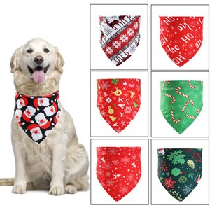2020 dog clothes new Christmas pet saliva towel triangle scarf cat decoration scarf (suitable for neck circumference 20-46CM) free shipping
