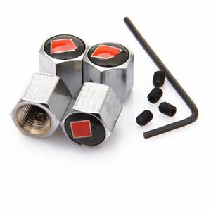 قابلة للقفل أسود SLINE مكافحة سرقة غطاء الغبار غطاء صمام الإطارات مع شارات سيارة لأودي S3 S4 S5 S6 S8 Q5 Q7 A3 A4 A5 A6 A7 TT RS4 RS5 RS6 7