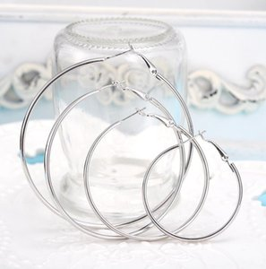 Top quality 925 sterling silver golden exaggerated hoop earrings large diameter 6-10CM fashion party cute Christmas ps0678