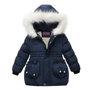 Designer Kids Coat Winter Outwear Jacket for Baby Girls Faux Fur Hoodie Warm Thicken Parkas Girls Coat Kids Clothes Winter Down Jackets