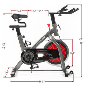 US Stock Indoor Cycling Bike 4-Way Adjustable Handlebar Seat LCD Monitor Home Cardio Workout Belt Drive Stationary Exercise Bike MS194754AAJ