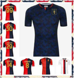 Nouveau 2020 Genoa Cricket Soccer Jerseys 10 Gumus 11 Kouame 20 Schone Romero Sturaro Pinamonti T.Sanabria personnalisé CFC Home 2021 Shirt de football