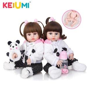 KEIUMI 19 дюймов Bebe Reborn Menina Полный Силикон тела Likelife Красивые близнецы Reborn куклы Дети Для детей подарок на день рождения 201021