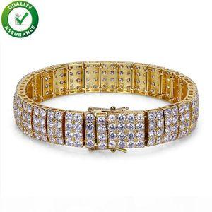 Luxury Designer Jewelry Women Bracelet Hip Hop Diamond Love Bangle Mens Gold Bracelets Pandora Style Charms Snap Iced Out Tennis Chain Bling
