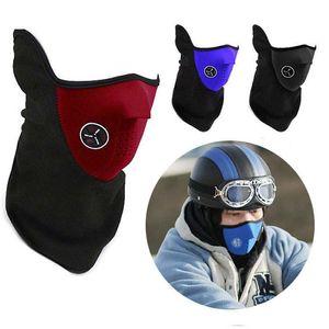 Ciclo de la bicicleta de la motocicleta media mascarilla de invierno caliente del deporte al aire máscara de esquí cuello Guardia Bufanda de ciclo Máscara CYZ2828 100 piezas