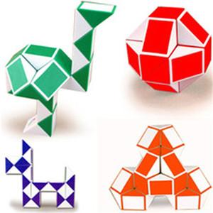 Presentes brinquedos de inteligência Mini Magic Cube Hot Cobra Forma Toy Game Cube 3D Puzzle torção enigma Toy presente aleatório Intelligence Brinquedos SUPERTOP