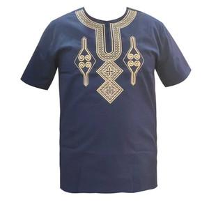 2020 nuovi vestito pieno corto per il matrimonio africana che porta l'Africa Abbigliamento Bazin ricamo Mens dashiki Tops