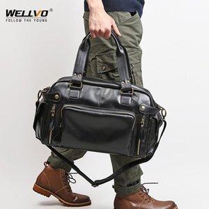 Briefcases Valigetta in pelle morbida da uomo per borse per laptop Borse per laptop Business Messenger Borsa per il tempo libero Tempo libero Grande viaggio Black XA158C