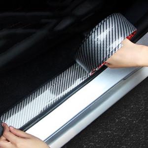 Araba Vücut Tampon Çıkartmalar 5D Karbon Fiber Kauçuk Styling Kapı Eşiği Koruyucu Ürünler Araba Dekorasyon Aksesuarları Oto Dış Parçalar