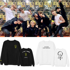 New Korean KPOP StrayKids District 9 Unlock Hoodie Hip Hop Casual Loose Clothes Pullover Printed Long Sleeve Sweatshirts