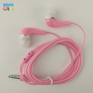 500pcs lot 1M Good Quality 3.5mm Stereo Soft transparent In Ear Earphone for Huawei Xiaomi Sony Wholesale Cheap