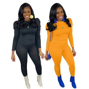 Womens outfits long sleeve 2 piece set tracksuit jogging sportsuit shirt leggings outfits sweatshirt pants sport suit hot selling klw0101