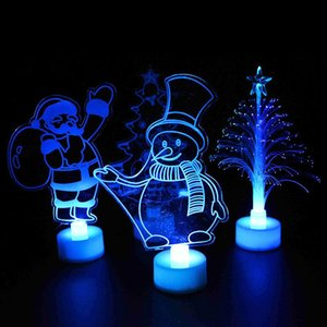 1pc Colorful LED Decorative Lights New Year's Party Decor Christmas Tree Decorations Party Supplies Acrylic Christmas Night Gift