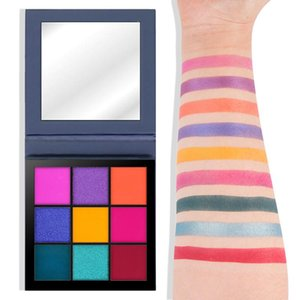 New 9 Color Eyeshadow Palette Matte Glitter EyeShadow Diamond Shimmer Eye Primer Luminous Eye Shadow Women Gift Smoky Warm Color