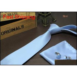 Hombres Neck Tie Set Pocket Square Stenea Botón Hanky Corbatas y Conjunto de pañuelos Qylnxi Nana_Shop