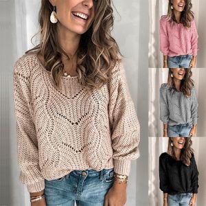 Damen Pullover Damen Crew Hals Pullover Short Knit Pullover Pullover Damen Pullover Oansatz Lässige Modeart