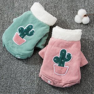 Cute Cactus Pet Clothes Dog Coat Jacket for Dogs Costume Winter Warm Dog Clothes Corduroy Dogs Pets Clothing for Dogs Chihuahua LJ201130