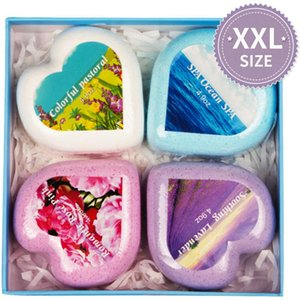 140g*4pcs Bath Bombs Healthy Bath Colorful Bubble Bath Salt Ball A Box Of Four Exquisite Gift Boxes Suitable For Gifts