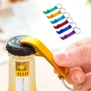 Portable Mini Bottle Opener Keychain Multi Colors Metal Beer Bottle Can Openers Home Bar Party Tool GWD2403