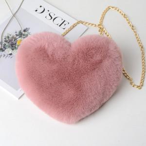 Wholesale-Women's handbag fashion heart-shaped bag girl chain cross body bag Mother purse teen big kids shoulder messenger bag 7 colors