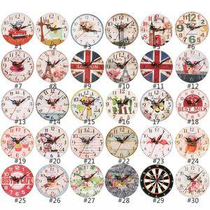 12cm 벽 시계 나무 시계 공예 나무 시계 거실 홈 장식 벽시계 시계 HHXD24326