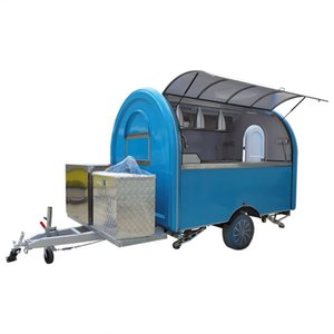 Blue Food Truck Mobile Concession Food Trailer