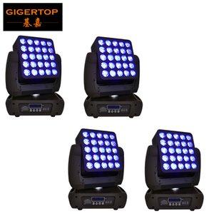 led 5x5 4 Adet Osram lamba 25x12w RGBW 4in1 matris aşamalı uluslararası profesyonel çubuk dikdörtgen lamba için far hareket