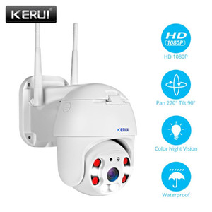 KERUI Outdoor Waterproof Wireless 1080P 2MP 4X PTZ WiFi IP Camera Speed Dome Camera CCTV Surveillance With 3 meter Power adapter