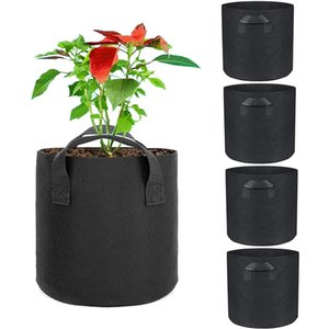 5 Gallon Plant Grow Bags Fabric Garden Potato Grow Container Plant Growing Bag Flower Pots Vegetable Planter Tool with Handle Planting Pots