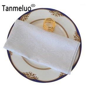 10PCS Western dinner serviette cotton table napkin hotel folding napkin home cloth wedding coffee towel table decoration1
