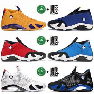2021 New Retro Basketball Shoes 14 14s XIV JUMPMAN University Gold Men Women SatinJordanAir GYM Blue Black Red Trainers Sneakers