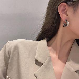 TimeOnly Declaração Resina Leopardo Hollow Love Heart Brinco Para As Mulheres Meninas 2021 Moda Estilo Coreano Brinco Festa Jóias