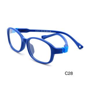 Nuevo material de silicona Tendencia de los niños All-Match Glasses ópticos 2021 Marco redondo Cómodo Gafas personalizadas P310