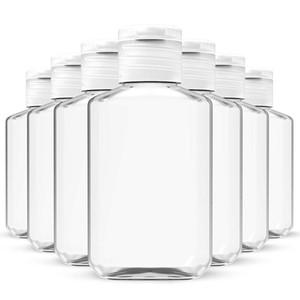 60ML إفراغ اليد المطهر هلام زجاجة صابون السائل زجاجة واضحة تقلص الحيوانات الأليفة الفرعية السفر زجاجة KKF1816