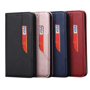 Ultrathin Slim Leather Wallet Case For Samsung S21 S20 FE Note 20 Ultra Suck Closure Magnetic Money Pocket Credit ID Card Holder Flip Cover