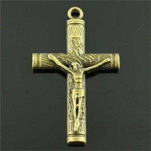 Charme-großes Kreuz Bronze Farbe Große Kreuz-Charme-Anhänger Schmuck Ankh Kreuz-Charme für Schmucksachen, die wmttFt bdegarden
