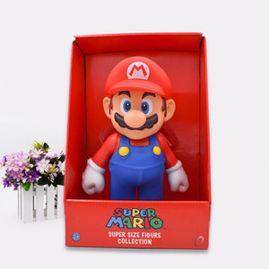 "Free Shipping Super Mario Bros Mario PVC Action Figure Collection Toy Doll 9"" 23cm New in Box Enime T200628"