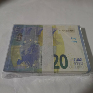 2021 Vente chaude PROP ARGENT EUR 1/5/10/20/50/100 Copier de papier Banknote PROP ARGENT 100PCS / PACK 02