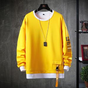 2020 Solid Color Sweatshirt Men Harajuku Hoodies Autumn Spring Hoody Casual Hoodie Man Cotton Sweatshirts Men Streetwear Clothes A1109