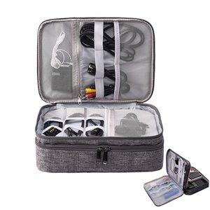 Travel Digital Organizzatori Fili Cavi USB Cavi di stoccaggio Sacchetto di stoccaggio Caricabatterie elettronico Power Battery Box Battery Handled Bags Accessori Q0112