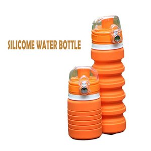 A new tvpe of collapsible and retractable large capacity portable water cup for student's outdoor sports
