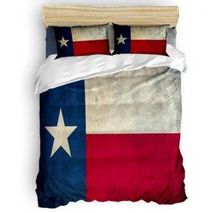 Flagge Banner Sterne Retro Bettbezug Set Warme und bequeme Bettbettschlafzimmer Bettwaren 2/3 / 4 stücke Bettwäsche1